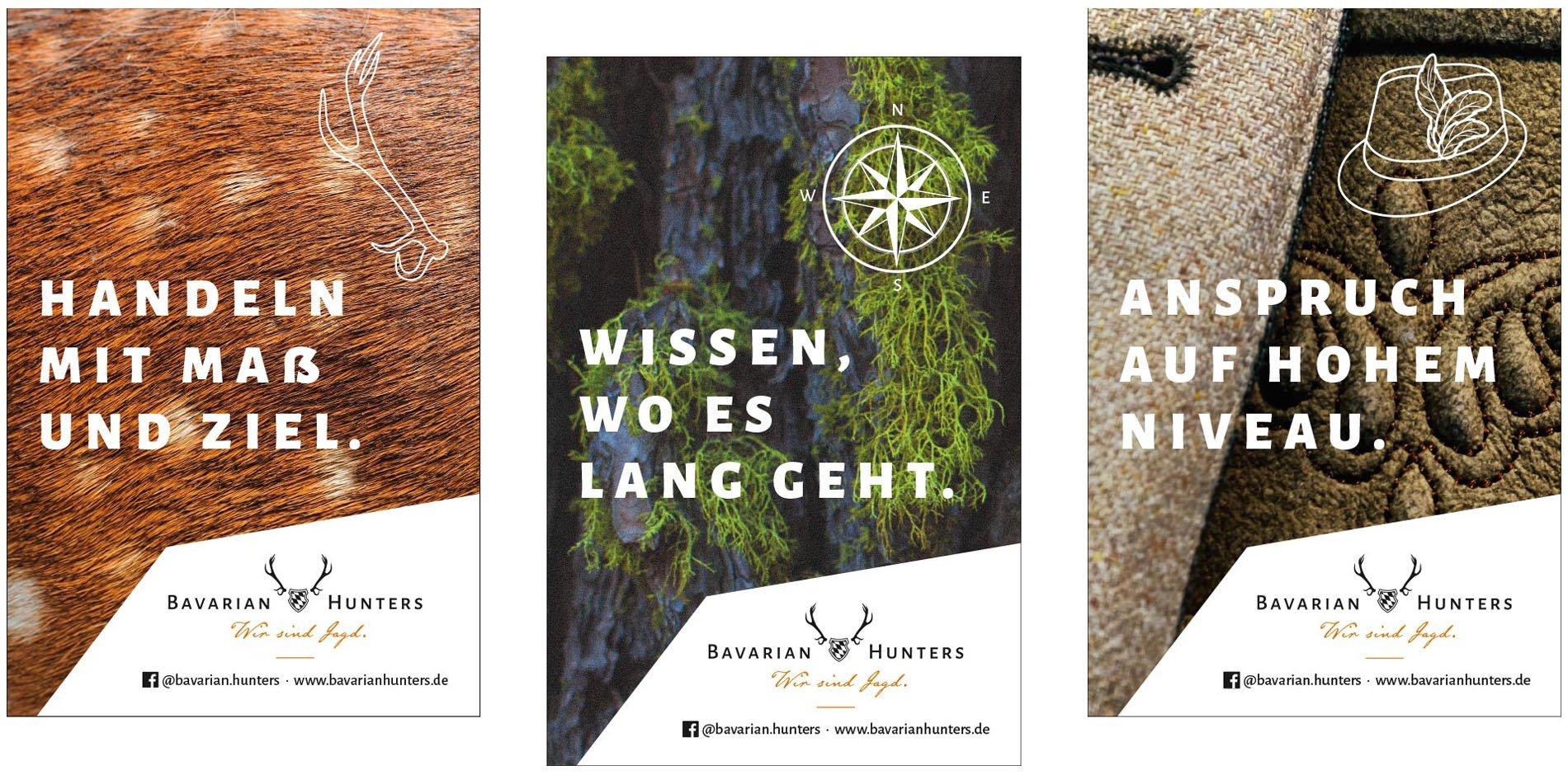 Bavarian Hunters Imagekampagne Anzeigen